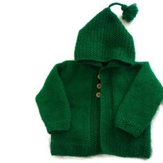 Green Knitted Baby by WeeLaddie on Etsy, £12.00