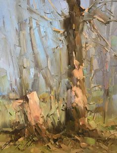 Dreamy Birches, Landscape oil Painting, One of a Kind