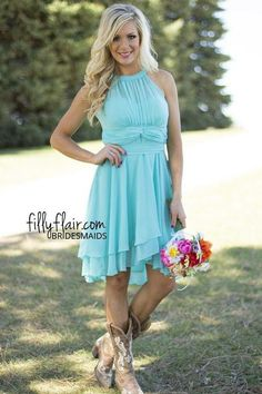 Cheap light sky blue, Buy Quality light blue chiffon directly from China wedding dresses party Suppliers: 2017 Modest Short Bridesmaid Dresses Light Sky Blue Halter Neck Knee Length Ruffle Chiffon Plus Size Country Wedding Party Dress Kids Bridesmaid Dress, Patterned Bridesmaid Dresses, Country Bridesmaid Dresses, Turquoise Bridesmaid Dresses, Bridesmaid Dresses Online, Blue Bridesmaids, Wedding Bridesmaids, Turquoise Dress, Cheap Party Dresses
