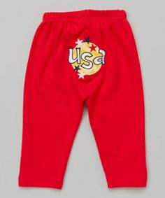 Another great find on #zulily! Red 'USA' Pants - Infant & Toddler #zulilyfinds