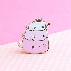 Hey, I found this really awesome Etsy listing at https://www.etsy.com/uk/listing/523871245/cat-enamel-pin-cute-enamel-pin