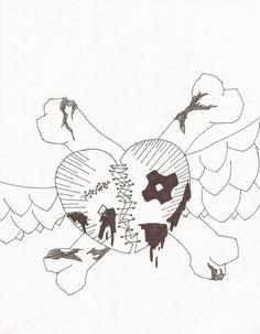 Emo Heart Drawings Emo Heart 2 By Yellowjo Heart Drawings Emo