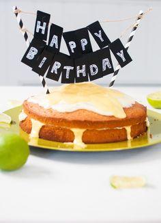 'Vanille-Limetten Kuchen mit Mango-Soße'