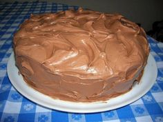 Chocolate Buttermilk Cake with Chocolate Buttermilk Frosting.