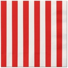 Red Stripe Lunch Napkins (16)