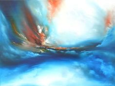 "Large painting, ""Pillar of Fire"" by Andrew Keola."