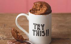 Classic milk chocolate microwave mug cake