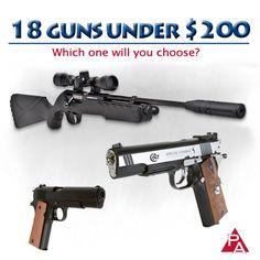 Looking for an airgun for your budget? We have that! http://www.pyramydair.com/a/Specials/18_guns_under_200/1313?utm_source=pinterest&utm_medium=social&utm_campaign=airg-eblast-18+guns+under+%24200