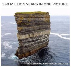 A TOP PIN! 350 Million Years in one picture - Dun Briste, Knockaun Ireland