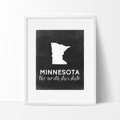 Minnesota Printable by SamanthaLeigh on Etsy