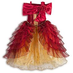 Belle Deluxe Costume for Girls | Costumes & Costume Accessories | Girls | Kids | Disney Store | its like the Gold dress and Christmas one had a baby! haha! I wish they had my size