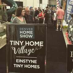 Day three and the final day at the #denver #homeshow ! Come check out the tiny house village before it's over!! . . . . #tinyhouse #tinyhousemovement #tinyhousenation #tinyhouseliving #tinyhome #tinyhouses #tinyhomes #tinyhouseonwheels #thow #offthegrid #tiny #small #minimalism #simple #house #home #construction