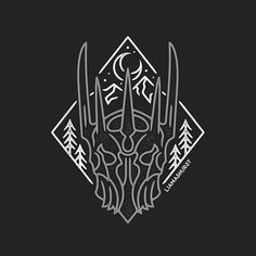 Helm of Sauron ⚔️ I watched all of Lord of The Rings again over Christmas. Which is your favourite? I like The Two Towers because Ents!  #graphicdesign #design #art #artwork #drawing #handdrawn #illustration #slowroastedco #blackwork #tattoo #lordoftherings