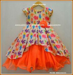 frock desings by Angalakruthi boutique BangaloreAfbeeldingsresultaat voor little girl dress, african printDifferent Types of Frock Designs for Kids - ArtsyCraftsyDadIn this fashion world, Frock design is growing day by day and all the people are gett Frocks For Girls, Little Girl Dresses, Girls Dresses, Frock Patterns, Kids Dress Patterns, Girls Frock Design, Baby Dress Design, Kids Dress Wear, Kids Gown