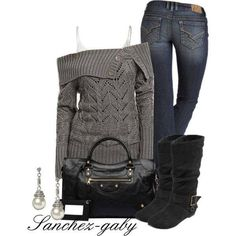 Love this outfit for winter or cold days