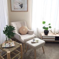 Relaxation corner! Can't get enough of @tara_louise_'s #superamartstyle making great use of our Traby chair and footstool. #regram #repost