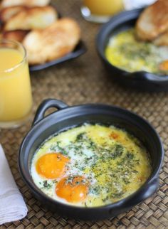 Herbed Baked Eggs_