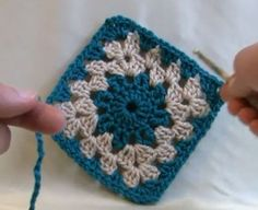 Learn how to crochet circle center granny squares. Video tutorial.