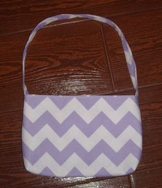Purple Chevron toddler purse - pinned by pin4etsy.com