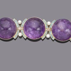 amethyst, turquoise, diamond and cultured pearl bracelet Amethyst Bracelet, Amethyst Jewelry, Diamond Bracelets, Pearl Bracelet, Bangle Bracelets, Jewelry Box, Jewelery, Vintage Jewelry, Fine Jewelry