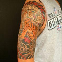 Tiger japanese tattoo - Chris Garver