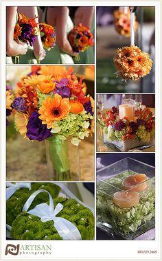 Purple And Lime Green Wedding | Green Orange Purple