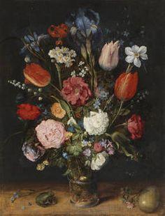 """""""Florero"""", Jan Brueghel el Viejo, Primer cuarto del siglo XVII"""