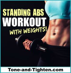 Standing Abs Workout With Weights (No Crunches!)