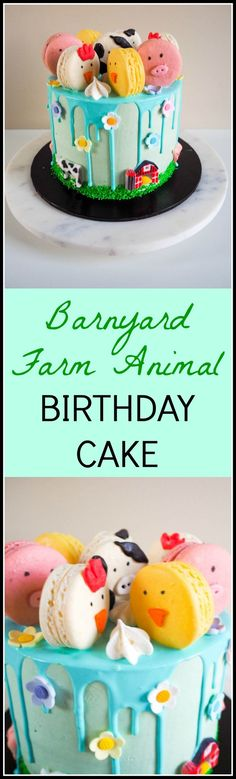 HOW TO: Barnyard Farm Animal Birthday Cake - The most adorable barnyard farm animal cake and matching cupcakes. How to make it for your little one's next special day.