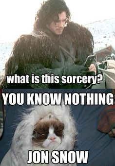 Jon Snow tries technology…