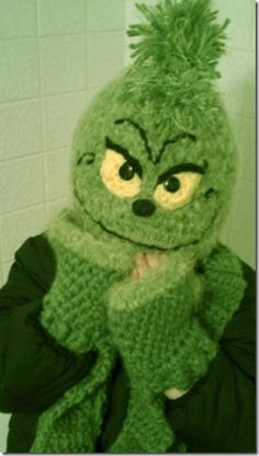 Grinch Crochet Hat- I spotted this cute Grinch crochet hat on Pinterest and found out they sell the pattern on Etsy if you'd like to try to make your own.