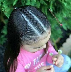 Trenzas Baby Girl Hairstyles, Princess Hairstyles, Cute Hairstyles, Braided Hairstyles, Long Hair Designs, Curly Hair Styles, Natural Hair Styles, Kid Braid Styles, Braids For Black Hair