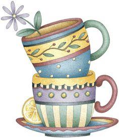 Coffee cups - Debbie Mumm
