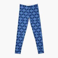 'Blue Star Mandala Pattern' Leggings by HavenDesign Leggings Fashion, Women's Leggings, Pattern Leggings, Profile Design, Mandala Pattern, Knitted Fabric, Girl Fashion, Pajama Pants, Stars