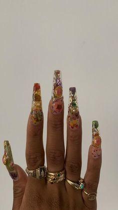 Drip Nails, Gem Nails, Aycrlic Nails, Hair And Nails, Garra, Claw Nails, Exotic Nails, Nail Jewelry, Jewellery