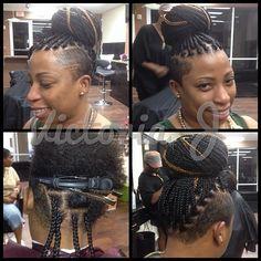 ✨Mohawk Medium Box Braids 📲Call/text for your next appointment 9545880083 Medium Box Braids, Short Box Braids, Shaved Side Hairstyles, Box Braids Hairstyles, Ladies Hairstyles, Undercut Hairstyles, Twists, Twist Braids, Locs