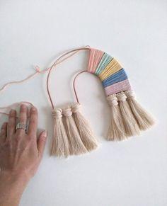 Made to order – Moon frame, Macrame frame, Tapestry Frame, Macrame supplies - Handmade crafts Macrame Supplies, Macrame Projects, Craft Projects, Craft Ideas, Yarn Crafts, Diy And Crafts, Diy Macrame Wall Hanging, Macrame Mirror, Weaving Wall Hanging