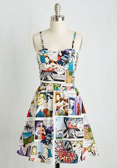So Jelly Dress in Comics From the Plus Size Fashion Community at www.VintageandCurvy.com