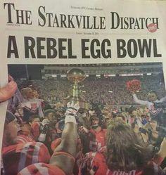 Starkville paper headline 2014 Egg Bowl.