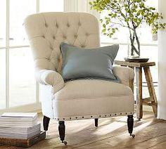 Clara Upholstered Armchair #potterybarn | Living Room | Pinterest ...