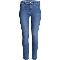 Skinny Regular Ankle Jeans 9,99 $ (66 DKK) via Polyvore featuring jeans, blue denim jeans, denim ankle jeans, skinny fit denim jeans, short pants and denim jeans
