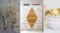 14 fantastiske DIY-prosjekter med gullspray