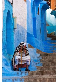 World's most colourful cities: Morocco's azure haven, Chefchaouen, a city high in Morocco's Rif Mountains known for its labyrinthine medina bathed entirely in shades of blue. Morocco Chefchaouen, Beautiful Streets, Beautiful Places, Beautiful Beautiful, Amazing Places, Blue City, Morocco Travel, Travel And Leisure, North Africa