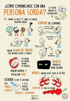 Magnífica infografía de Oreja Voladora que se ha hecho viral en las redes. Oreja Voladora es una iniciativa de Isabel de las Heras, artista y emprendedora sorda. https://www.facebook.com/orejavoladora/ http://www.orejavoladora.es/