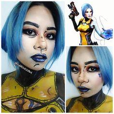 Maya from #Borderlands. #mua #motd #fotd #eotd #lipsoftheday #bluelips #asianbarbie #cosplay #bodyart #borderlandscosplay #borderlandsmakeup #Halloween #halloweenmakeup #fantasymakeup #recreation #BlueHair