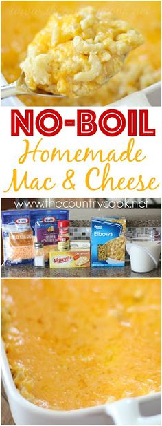 The Country Cook: No-Boil Homemade Macaroni and Cheese