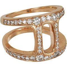 Hoorsenbuhs Rose Gold & Diamond Dame Phantom II Ring