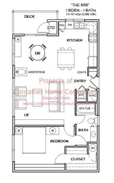 """Click through to see plans. This is a great design; I really like the """"non-shotgun"""" plan."""