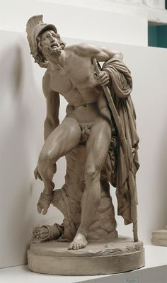 Philoctetes on the Island of Lemnos, 1852 by Jean-Baptiste Carpeaux – a French sculptor and painter during the Second Empire under Napoleon III Ancient Greek Sculpture, Greek Statues, Ancient Art, Roman Sculpture, Art Sculpture, Ceramic Sculptures, Sculpture Romaine, Carpeaux, Art Of Man