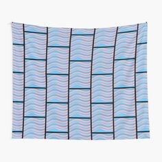 Tapestry Design, Wall Tapestry, Textile Prints, Art Prints, Pink Grey, Blue, Top Artists, Vivid Colors, Waves
